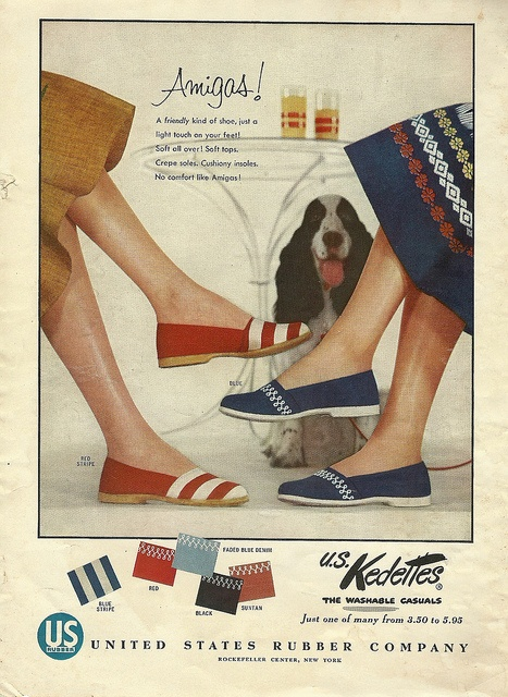 Amigos summer shoes from Kedettes. #vintage #1950s #shoes #ads
