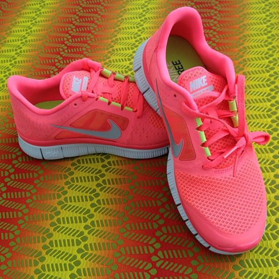 Neon Coral Nikes. Want!