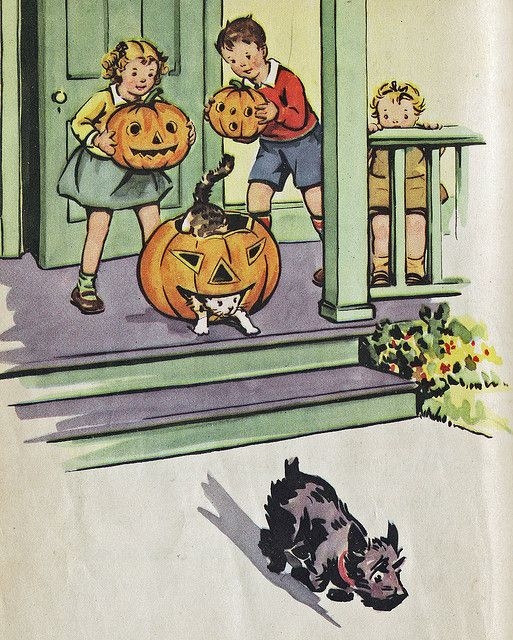 vintage Halloween illustration