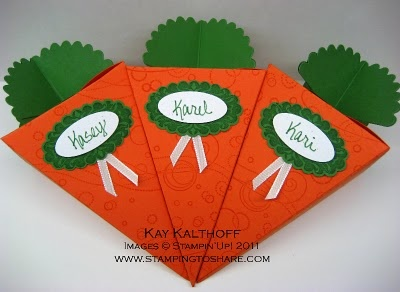 Stamping to Share: 3/5 Stampin' Up! Petal Cone Carrot Favors for Easter