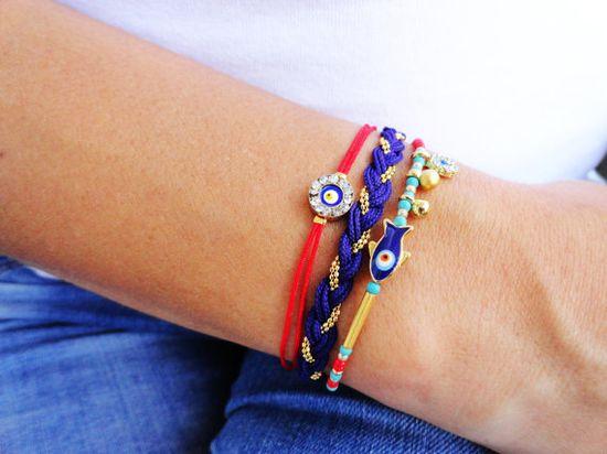 Evil eye bracelet set in purple and red  by Handemadeit, $27.90   #gypsy #bogo # ethnic #jewelry #bracelet #fashion #green #evileye #style #women #birthday #gift #black #fashion #shopping #neon #wholesale #mommy #me #mother #friendship #bestfriend #bff #birthday #gift #present