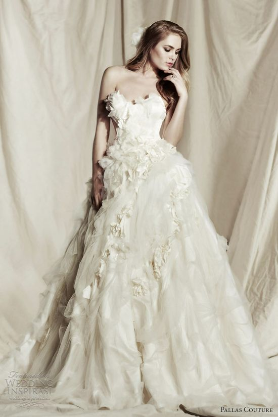 pallas couture wedding dresses 2013 2014 capucine strapless ball gown