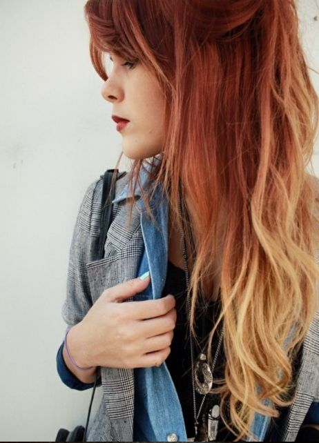 Ombre hair on red hair ? Just perfect *-*
