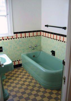 Deep green tub!