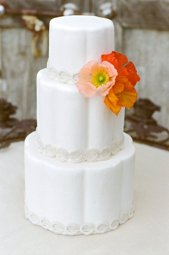 lovely flower bedazzled cake by www.sweetandsaucy...  Photography by aarondelesie.com