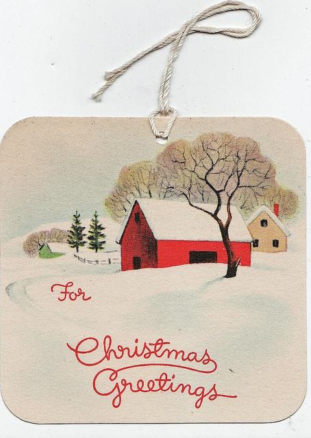 Vintage gift tag