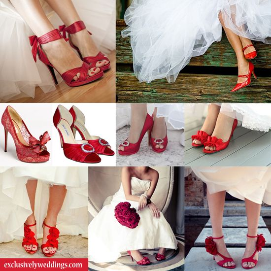 Red Wedding Shoes - Red Bridal Shoes