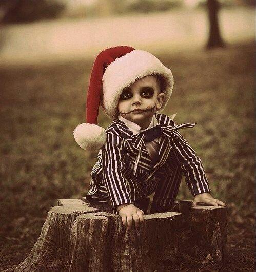 So cute! It's like Bettle Juice meets Christmas! Adorable