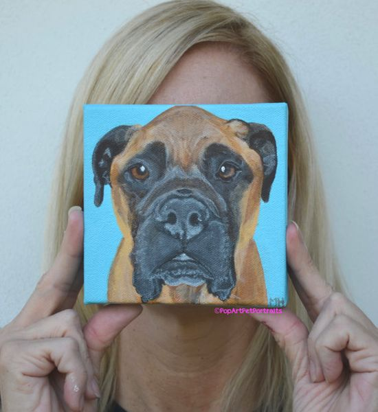 What a Great Memorial for a pet that's passed on...like this sweetheart....PopArtPetPortraits on Etsy,