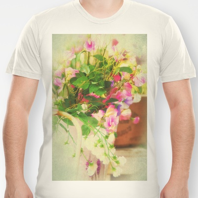 Romantic Country Life Style T-shirt by Tanja Riedel - $18.00