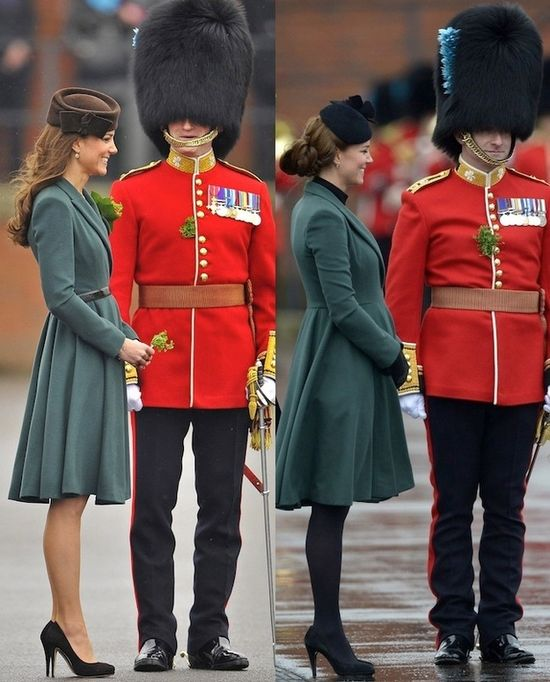 What a difference a year makes!  Kate pregnant