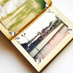Transform an old book into a photo album in a few easy steps.