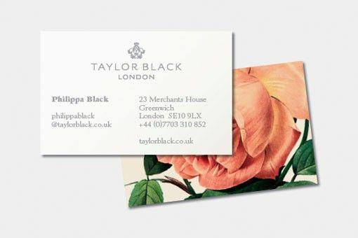 vintage flower on business cards