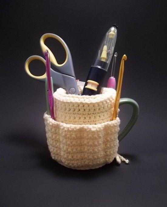 Clever mug tidy - crochet pattern $$$