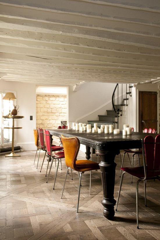 tiled wood floors