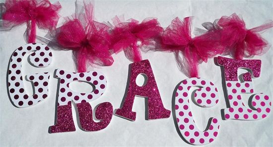 creative handmade wall letters - Google Search