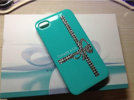 Rhinestone Tiffany blue IPhone 4/4s case