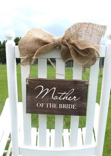 Wooden Reserved Wedding Signs - Personalized - Custom Made Just For You via Etsy