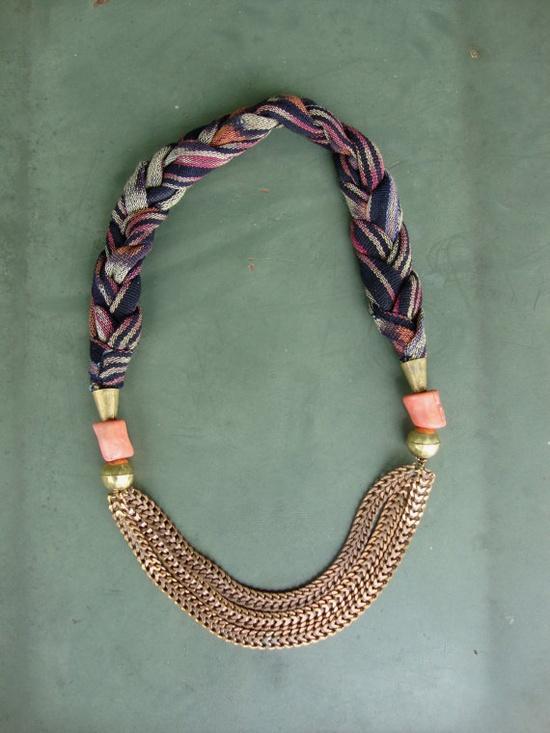 vintage ikat necklace