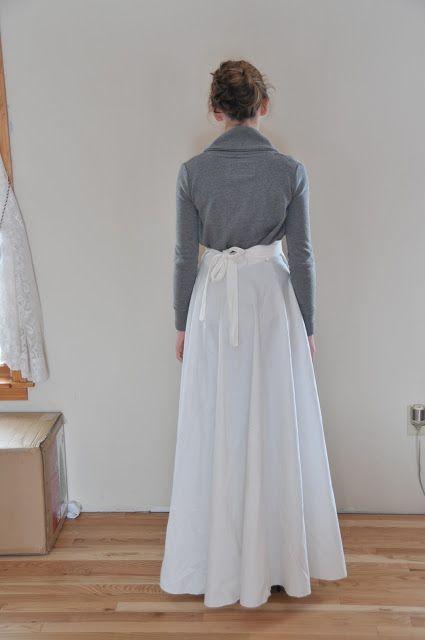 Patternless Wrap Skirt Tutorial