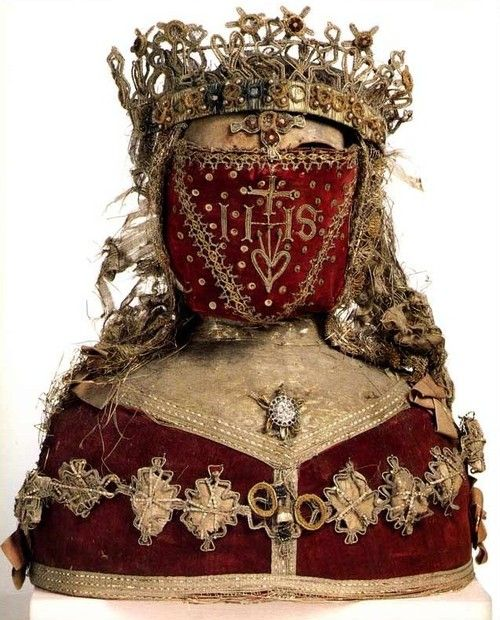 17th century reliquary bust