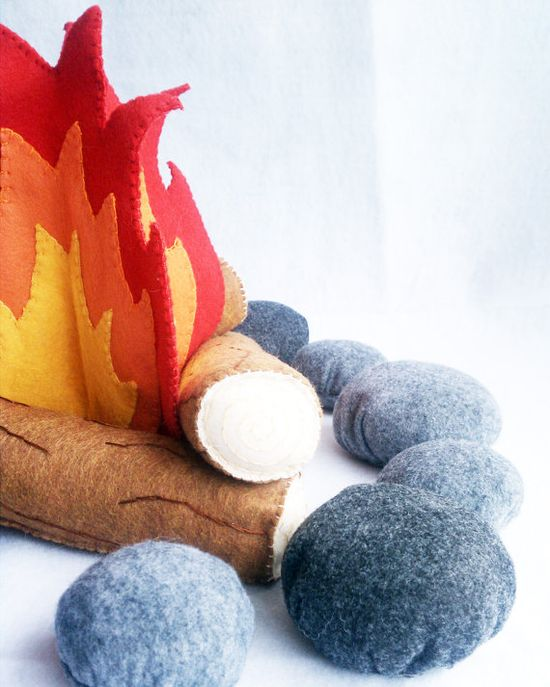 felt campfire toy