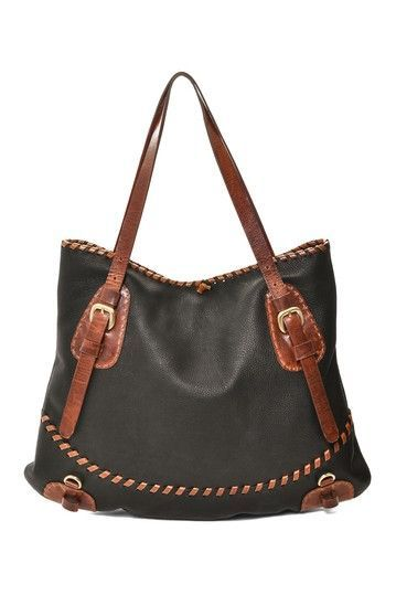 Black & Brown Leather Handbag.