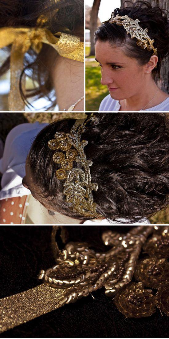 DIY Vintage Lace Headband #DIY #accessories #headband