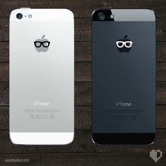 Geeky Glasses iPhone Decal / iPhone Sticker op Etsy