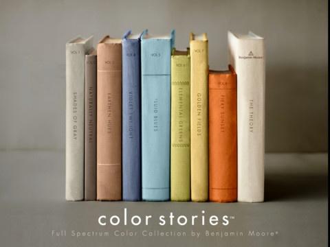 Benjamin Moore color collection app.
