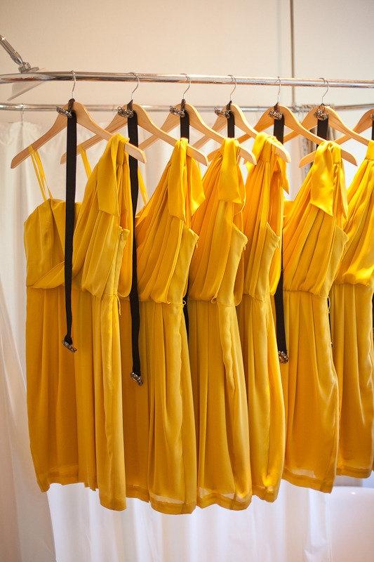 Sunny yellow bridesmaid's dresses #yellow #bridesmaid #dress