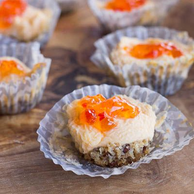 Red Pepper Jelly Goat Cheese Cakes