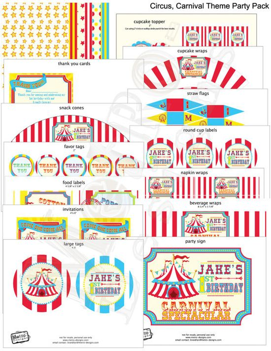 D.I.Y. Carnival Decorations & Invitations