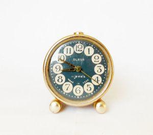 1970s Vintage Alarm clock/Made in CCCP /SLAVA