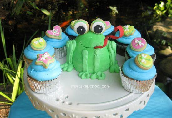 Froggy Cake Blog Tutorial~(mycakeschool.com)