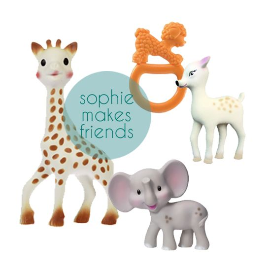 Sophie Giraffe -  retro 100% all natural rubber teethers for babies and infants - SmallforBig.com #toys #gifts #kids