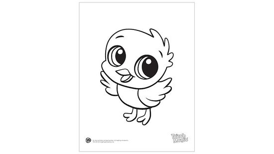 Baby Animal 'Chick' Coloring Page Printable
