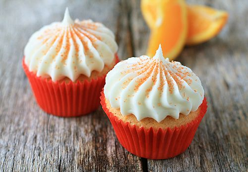 My Baking Addiction-orange cupcakes