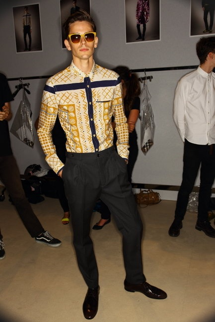 Backstage at Burberry's SS13 Milan Men's Fashion Week