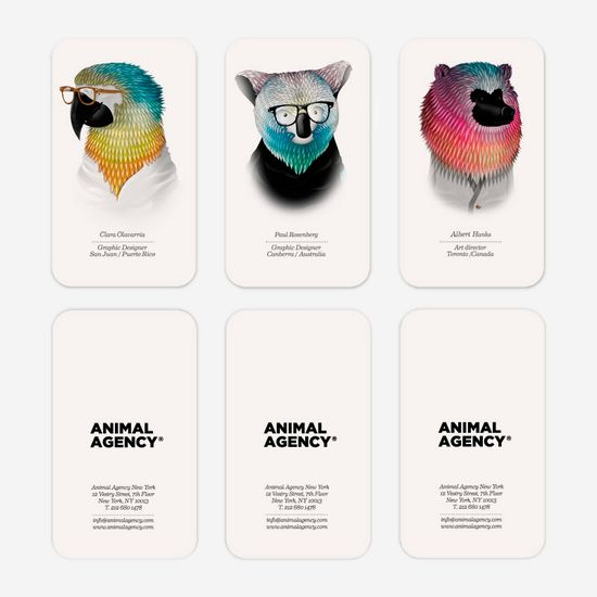animal agency business cards