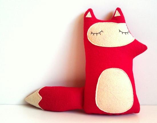 Liam - The Sleepy Woodland Fox - Made to order by sleepy king. $28.00, via Etsy.
