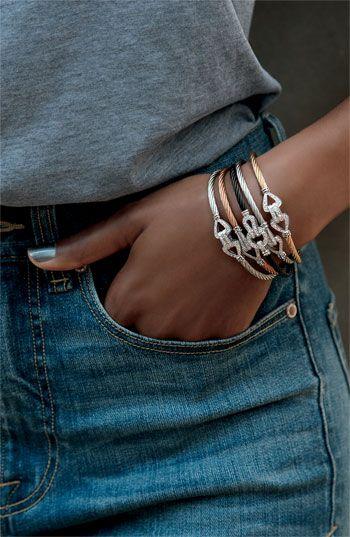 CHARRIOL Diamond Knot Bangles