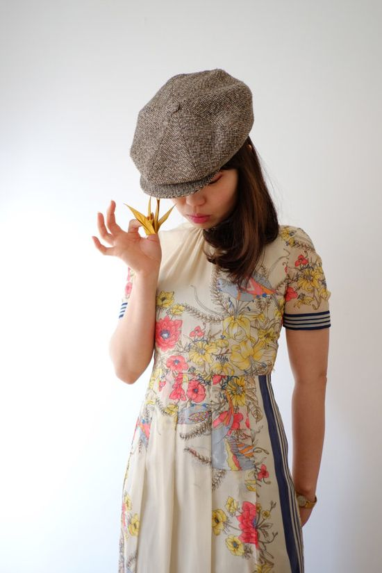 Bird in spring Japanese vintage dress xs by kamomeya on Etsy, €128.00
