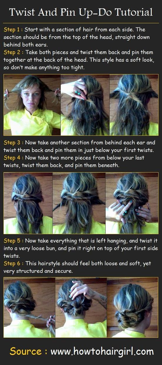 Twist And Pin Up-Do Tutorial - Hairstyles and Beauty Tips