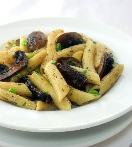 One Perfect Bite: Penne with Garlic Roasted Mushrooms