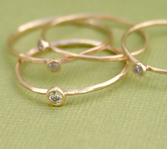 Diamond Ring Small Diamond Ring Delicate Ring by Tulajewelry, $125.00