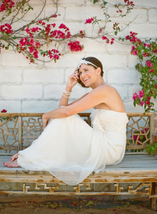 adore this bohemian Bride and her beautiful www.jennypackham.... dress and hair accessory by www.twigsandhoney...  Photography by aarondelesie.com