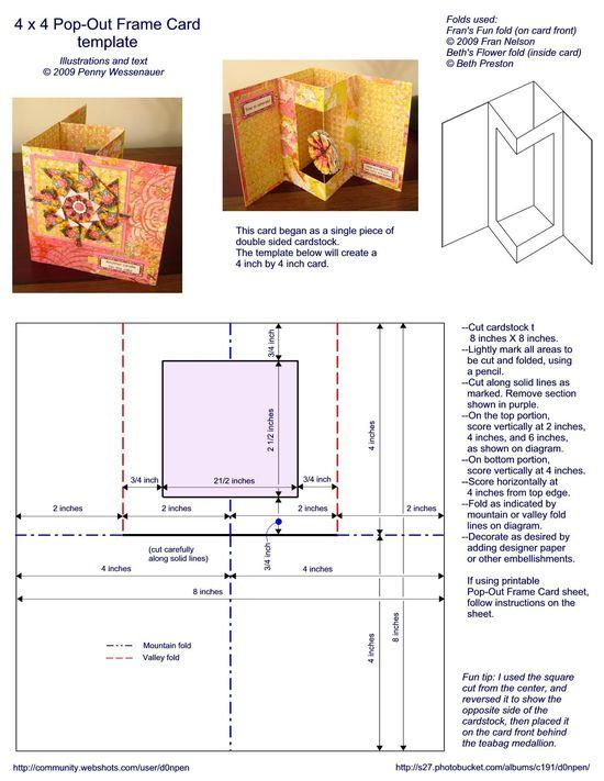 4 X 4 pop-out frame card - bjl