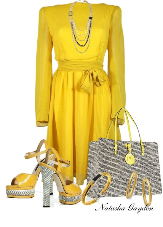 """Yellow"" by natasha-gayden on Polyvore"