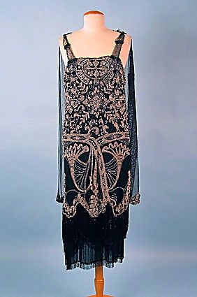 1920s Beaded Gown. @designerwallace